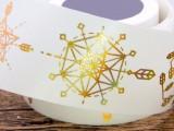 厂家来图定制烫金神秘宇宙星球系列手工DIY装饰手帐胶带