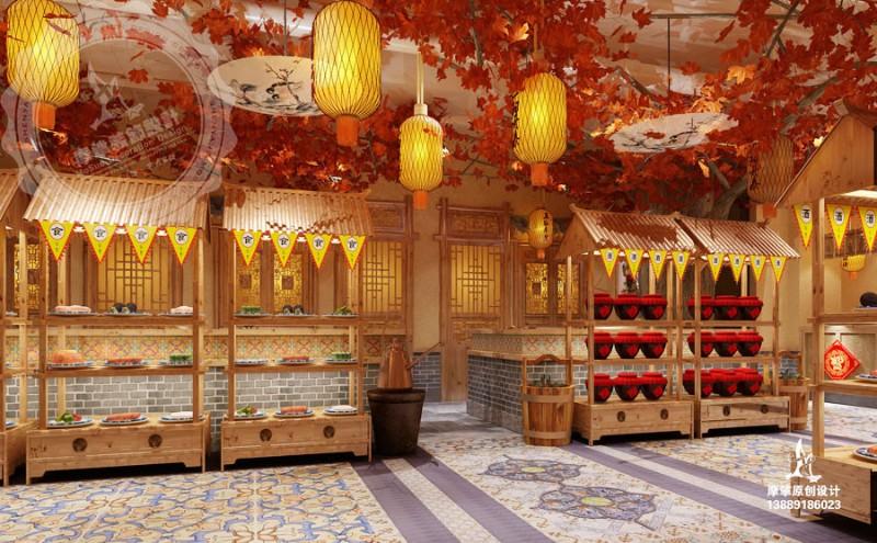 餐厅设计 餐饮空间设计 餐厅装修设计公司 摩挲装饰设计公司