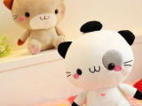 批发供应可爱日本猫 饭团猫 情侣猫 毛绒玩具 填充毛绒玩具公仔