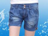 新款大码女装牛仔短裤 双扣修身哈伦裤 夏季时尚灯笼裤潮范短裤女