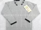 新款 品牌 童装 中小童毛衣套头V领休闲百搭针织花纹儿童羊毛衫