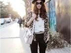 2013夏装新款 瑞丽 日韩女装瑞丽 豹纹束腰雪纺 中袖开衫 外套