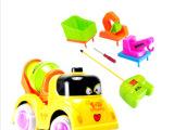 厂家直销卡通四通道灯光音乐遥控工程车 儿童玩具工程车 益智玩具