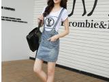 牛仔背带裙女新款夏季一步裙韩版牛仔连衣裙吊带裙