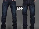 2013男装新款牛仔裤 男士修身水洗直筒牛仔裤 lee外贸原单裤