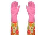 优芬长袖束口加绒家务手套 冬季保暖洗碗手套 加厚洗衣手套