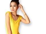 特批夏装韩版修身可拆卸肩垫纯色无袖T恤莱卡弹力棉手感运动上衣
