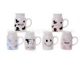优派可爱大号牛奶杯斑点陶瓷杯布丁酸奶杯创
