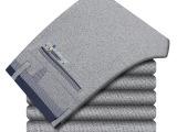支持一件代发 2015新品直筒修身男式长裤子高弹力休闲裤针织面料