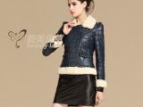 2013新款羊羔毛羽绒服真皮女装绵羊皮短款