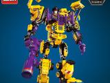 启蒙积木积变机器人拼装军事男孩玩具拼插益
