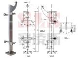 304不銹鋼樓梯扶手柱子立柱方管裝飾配件 雙夾刀頭