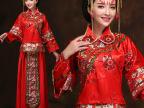 秀禾服秀和装新娘结婚长袖红色旗袍婚纱龙凤褂中式礼服敬酒服冬款
