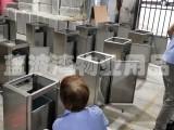 深圳室内方形电梯口不锈钢垃圾桶定做物业果皮箱厂家直销