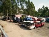广州市天河汽配市场大量二手驾驶室,货车驾驶楼拆车件低价出售