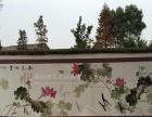 手绘文化墙彩绘壁画,中国梦围墙手绘画,美丽乡村文化