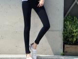 韩版修身显瘦黑色弹力小脚裤女牛仔裤中腰棉弹正品紧身铅笔牛仔裤
