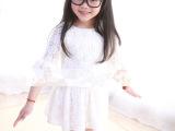 童装2014夏季新款韩版蕾丝拼接小白裙女童公主裙 连衣裙舞蹈群