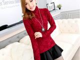 2014冬季加绒打底衫 女长袖 冬装新款女装 韩版修身保暖加厚T