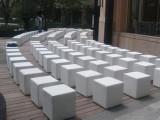 济南出租全新真皮单人沙发 方形皮凳 一米线 护栏