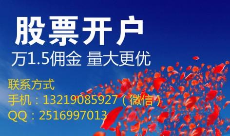 卫滨同城炒股 专业开户平台 行业佣金较低