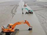 河源龍川水上挖機租賃