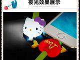新款炫彩LED发光数据线 通用三星苹果 卡通发光iphone5数