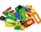 幼儿园积木塑料拼插早教益智桌面玩具散装斤称颗粒幼儿雪花片批发