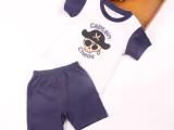 外贸童装原单 男童夏季新款套装 卡通图纯棉短袖短裤儿童童套装