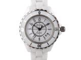 品牌热销新款情侣陶瓷手表 韩国时尚经典白色手表明星同款陶瓷表
