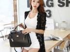 2014韩国l夏装新款 蕾丝拼接长款开衫 防晒衣