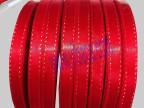 大红色金线丝带 10mm金边带 双面织带跳金线