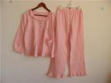 外贸P*K 纯棉女孩可爱家居服套装 两件套