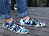棉麻帆布鞋草编鞋休闲鞋时尚百搭防滑耐磨舒适迷彩鞋一件代发男鞋