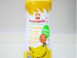 美国happy baby禧贝 有机水果泡芙 香蕉味 婴幼儿零食