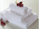 浩博螺旋纯棉毛巾 白色高档酒店用品 宾馆方巾浴巾地巾 一件代发
