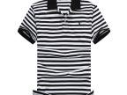 夏季男装商务polo衫 新款原单细条纹男款t恤 小马刺绣半袖小衫