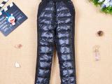 厂家直销 2013新款儿童羽绒裤加厚外穿男童女童内胆裤子90绒批发