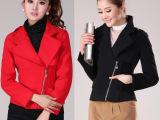 实拍秋冬装新款韩版女装西装领短款修身大衣呢子短外套大码呢大衣