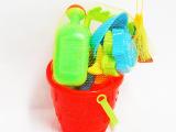 夏季热销儿童沙滩玩具 高档环保精装沙滩桶套装 儿童戏水益智玩具