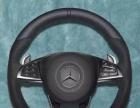 昆明奔驰C180L改装原厂AMG翻毛皮大拨片方向盘