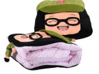 一件代发雷锋菜菜抱枕 靠垫 毛绒玩具菜菜暖手抱枕 空调被