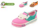 正品上海笨笨熊童鞋 可爱卡通小熊儿童帆布鞋 男女童一脚蹬童鞋