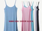 夏装新款 韩版莫代尔吊带裙 宽松大码 长款纯色 吊带背心 女 打