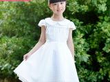 女童夏季短袖蕾丝欧根纱裙小公主连衣裙儿童礼服裙子可贴牌加工