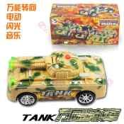 军事模型玩具 电动万向音乐灯光坦克 儿童电动玩具车 男孩玩具