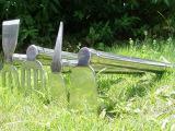 不锈钢锄镐 两用锄头 耙子套装 园林园艺工具