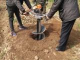 新款 植树 挖坑机 纯汽油打洞转眼机 省力移栽机
