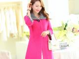 2014新款时尚韩版貂绒大衣女装貂绒开衫毛衣中长款貂绒外套