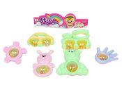 婴儿益智摇铃玩具 环保材料制造 宝宝手抓摇铃2只装 玩具批发
